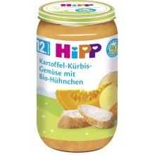 Хип пюре - Hipp Био Картофи и тиква с пилешко месо 250гр