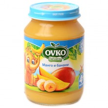 Овко пюре - Ovko Манго и банани 190гр.