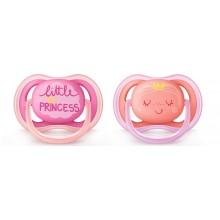 Avent Ultra air Залъгалка за чувствителна кожа Принцеса 6-18м 2бр./оп.
