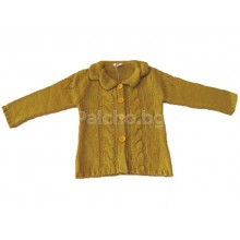 Жилетка плетиво за момиче 98-110
