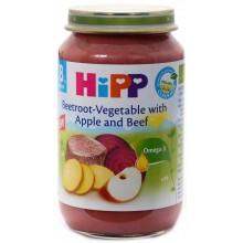 Хип пюре - Hipp Bio Телешко с цвекло, зеленчуци и ябълка 220гр.