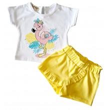 Летен комплект за момиче Фламинго 68-110
