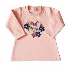 Ватирана блуза за момиче Сърце 80-104