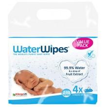 Water wipes Влажни кърпи (99,9% вода) 240бр. - 4 пакета