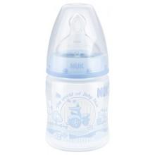 Nuk Пластмасово шише Rose/Blue 150мл