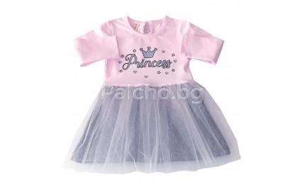 Детска рокля Принцеса 74-104