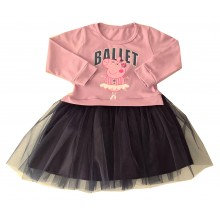 Детска рокля с тюл Пепа Пиг 86-116