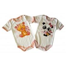 Бебешко боди с къс ръкав Мецанка 74-98