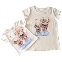 Лятна тениска Мама и дете Love 92-140 см  XS - L