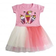 Детска лятна рокля Сладоледи 86-128