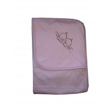 Бебешка памучна пелена розова 90/90 см
