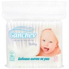 Ганчев бебешки клечки за уши без ограничител 100бр