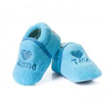 Attractive baby бебешки пантофки сини