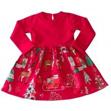 Детска рокля Къщички 92-134