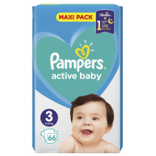 Pampers Active baby maxi pack 3 пелени 6-10кг. 66бр.