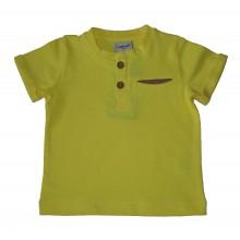 Контраст Блуза с къс ръкав за момче 68-122