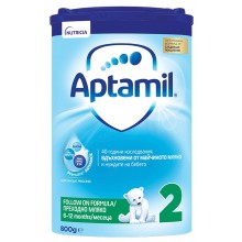 Аптамил 2 - APTAMIL 2 Бебешко мляко 6-12м. 800гр.
