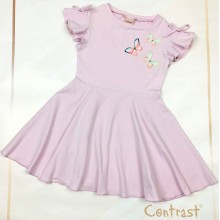 Контраст детска рокля Пеперуди 104-122