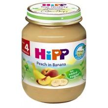 Хип пюре - Hipp Bio Праскови и банани 125гр.