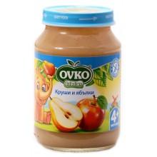 Овко пюре - Ovko Круши и ябълки 190гр.