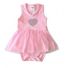 Бебешка боди рокля Сърце 56-74