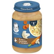 Gerber Супа с карфиол и заешко месо 190гр.