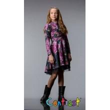 Контраст рокля Цветна градина 98-122