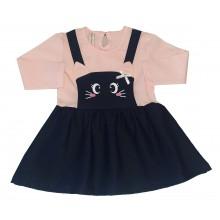 Бебешка рокля Коте 68-98