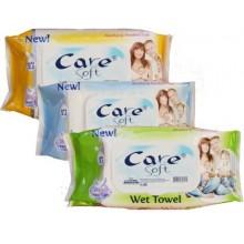 Влажни кърпи Soft care 72бр.