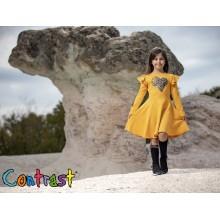 Контраст рокля Сърце 98-152