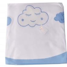 Бебешка пелена Синьо облаче 90/90 см