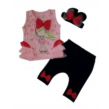 Breeze Детски летен комплект с лента за коса 68-92
