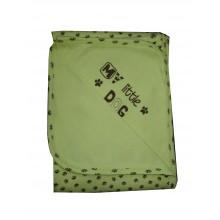 Бебешка памучна пелена зелена 90/90 см
