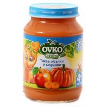 Овко пюре - Ovko Тиква, ябълки и моркови 190гр.