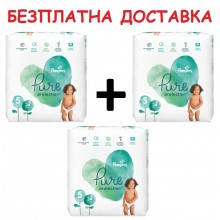 Pampers Pure Protection Пелени 5 11кг+ 72бр + Безплатна доставка до офис на Еконт/Спиди