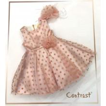 Официална детска рокля Контраст 80-92