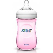 Авент шише - Avent Natural розово 260мл.