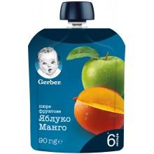 Gerber Гербер Мус ябълка и манго 90гр.