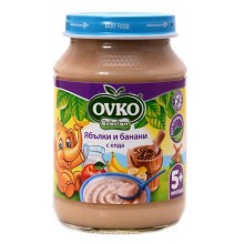 Ovko Каша ябълки и банани с елда 190гр.