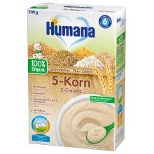 Хумана Био Каша - Humana Инстантна каша 5 зърна 200гр