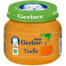 Гербер пюре - Gerber Тиква 80гр.