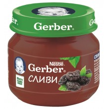 Гербер пюре - Gerber Сливи 80гр.