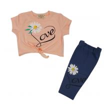 Летен комплект за момиче Цветя 92-110
