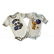 Бебешко боди с къс ръкав Мечо 74-98