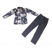 Комплект сако и клин Цветя 116