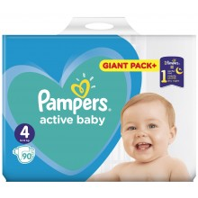 Pampers Active baby 4 пелени 9-14кг. 90бр.