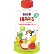 Hipp Bio Плодова закуска Ябълка, ягоди и банан 100гр