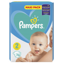 Pampers Active Baby Maxi pack 2 пелени 4-8кг. 76бр.