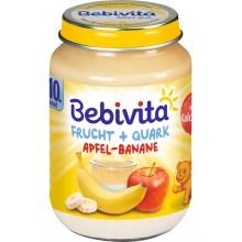 Бебивита Плодов дует ябълка и банан с извара 190гр.