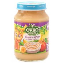 Ovko Десерт с йогурт банан и ябълка 190гр.